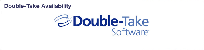 Double Take Availability Backup Software banner