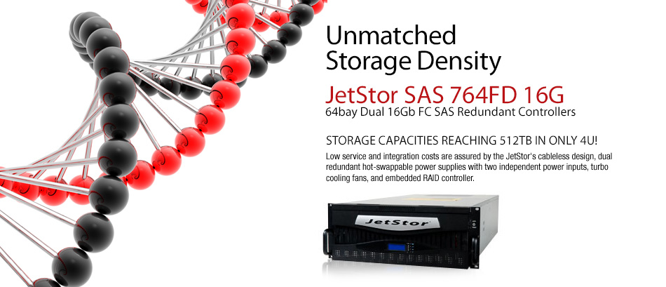 Storage density device Jetstor SAS 764FD V2