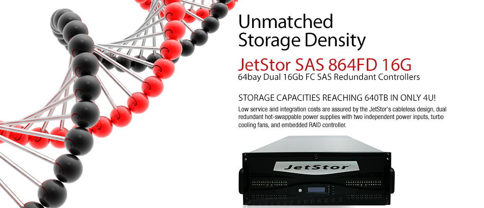 Storage density device Jetstor SAS 864FD 16G